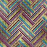 связанная картина безшовная Пестротканый племенной шаблон Стоковые Фото