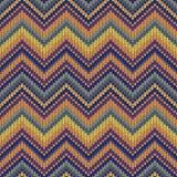 связанная картина безшовная Пестротканый племенной шаблон Стоковые Фотографии RF