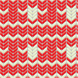 Связанная картина шерстей красочная безшовная с орнаментом Стоковое Изображение