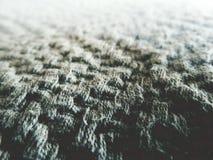 Связанная предпосылка конспекта ткани шерстей ткани Стоковое фото RF