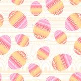 Связанная предпосылка пасхальных яя также вектор иллюстрации притяжки corel Стоковое Изображение