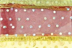 Связанная предпосылка текстуры ткани Стоковая Фотография
