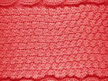 Связанная предпосылка шерстей - красный цвет Стоковая Фотография RF