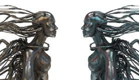 связанная проволокой белизна роботов 2 Стоковые Фото