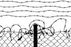 связанная проволокой загородка Стоковое Изображение
