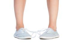 Связанная проказа шнурков ботинка Стоковое Изображение RF