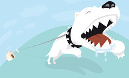 Связанная сердитая собака Стоковая Фотография