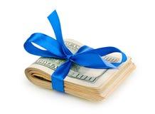 связанная тесемка доллара кредиток Стоковая Фотография RF