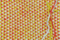 Связанная, шерстяная ткань и 3 потока чего она соединено Стоковая Фотография RF