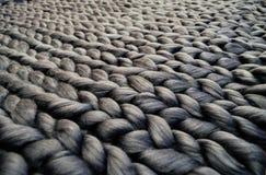 Связанное одеяло шерстей merino Стоковое Изображение RF