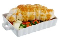 связанной зажженные грудью овощи индюка Стоковая Фотография RF