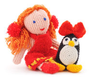 Связанные игрушки Стоковая Фотография