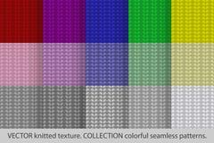 Связанные красочные безшовные картины Стоковое фото RF