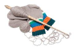 Связанные носки на белой предпосылке Стоковые Фотографии RF