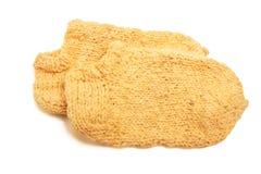 связанные носки шерстяные Стоковая Фотография