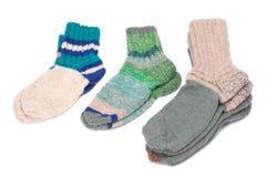 связанные носки Стоковое Изображение
