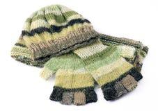связанные перчатки крышки Стоковая Фотография