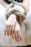 связанные руки Стоковая Фотография