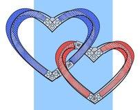 связанные сердца 2 Стоковые Фотографии RF