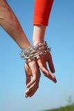 связанные цепные руки 2 Стоковые Фотографии RF