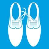 Связанные шнурки на белизне значка шутки ботинок иллюстрация вектора