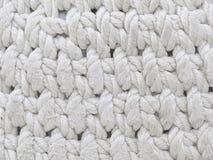 Связанный белый материал Стоковая Фотография RF