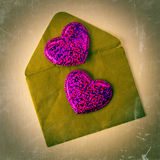связанный вектор Валентайн иллюстрации s 2 сердец дня Стоковые Изображения RF