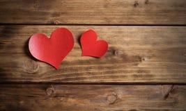 связанный вектор Валентайн иллюстрации s 2 сердец дня Стоковая Фотография RF