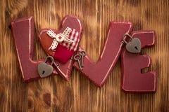 связанный вектор Валентайн иллюстрации s 2 сердец дня Стоковые Фото
