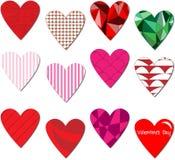 связанный вектор Валентайн иллюстрации s 2 сердец дня Стоковое фото RF