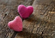 связанный вектор Валентайн иллюстрации s 2 сердец дня Стоковая Фотография