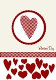связанный вектор Валентайн иллюстрации s 2 сердец дня Стоковые Изображения