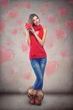 связанный вектор Валентайн иллюстрации s 2 сердец дня Стоковые Фотографии RF