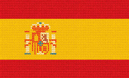 Связанный испанский флаг иллюстрация штока