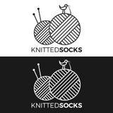 Связанный логотип носки Стоковое фото RF