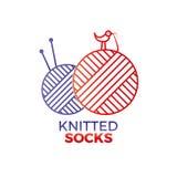 Связанный логотип носки Стоковое Изображение