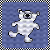 Связанный полярный медведь картины Стоковые Изображения