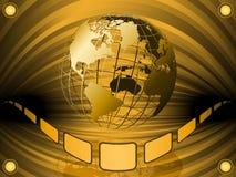 связанный проволокой глобус земли Стоковые Фотографии RF