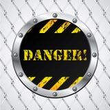 связанный проволокой знак загородки опасности бесплатная иллюстрация