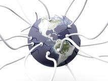 связанный проволокой мир Стоковое Изображение