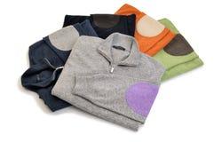 Связанный пуловер в стоге Стоковые Фотографии RF