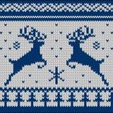 Связанный скандинавский орнамент Стоковое Фото