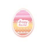 Связанный стикер пасхального яйца также вектор иллюстрации притяжки corel Стоковые Фото