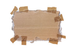 связанный тесьмой картон Стоковые Изображения