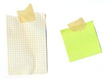 связанный тесьмой столб бумаги примечаний Стоковые Изображения RF
