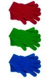 Связанный цвет перчаток различный Стоковые Изображения RF
