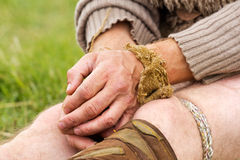 Связано с руками веревочки Стоковые Фото