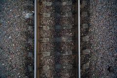 связи камней перекрестных рельсов железнодорожные Стоковая Фотография RF