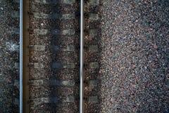 связи камней перекрестных рельсов железнодорожные Стоковое Изображение