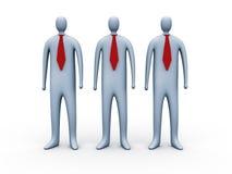 связи красного цвета людей 3d Стоковые Изображения